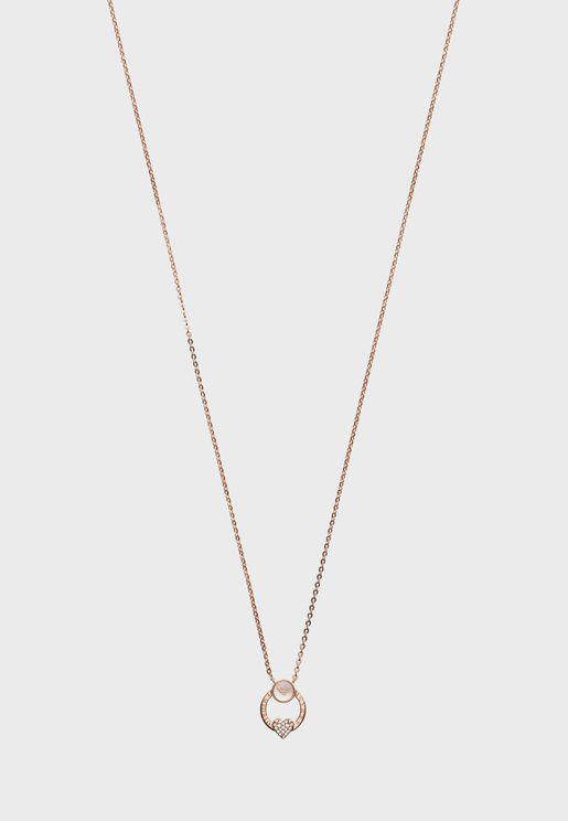 EG3429221 Heart Studded Pendant Necklace