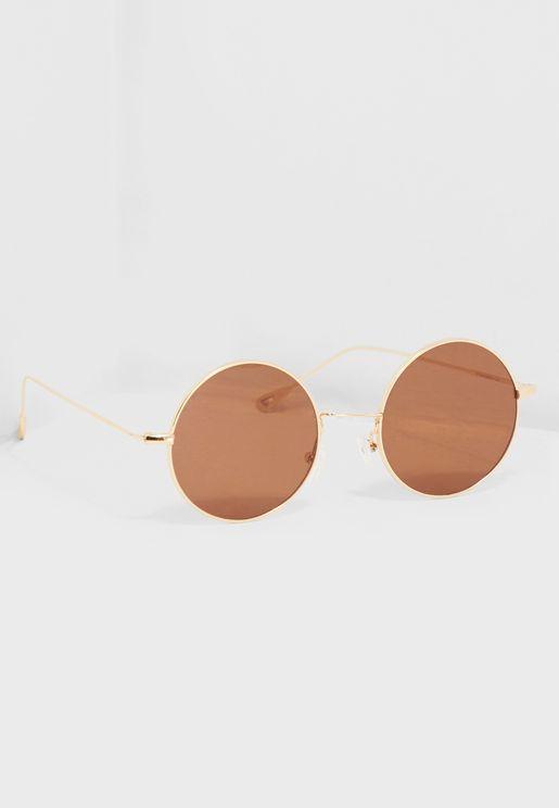 نظارة شمسية دائرية بعدسات متدرجة