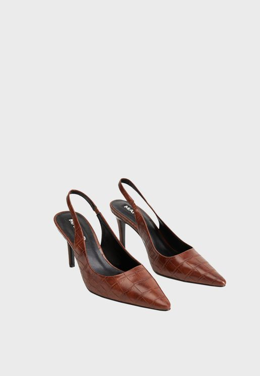 Slingback High Heel Pump