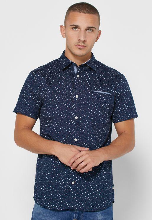 Dylan Slim Fit Printed Shirt