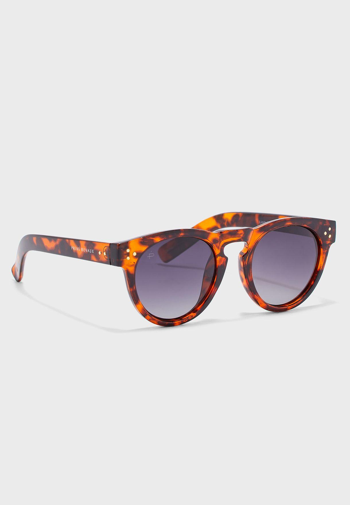 The Warhol Polarized Oval Shape Sunglasses