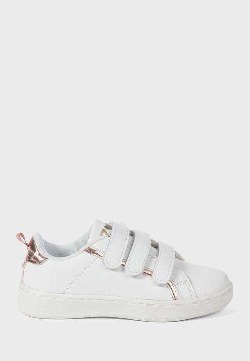Kids Three Strap Sneaker