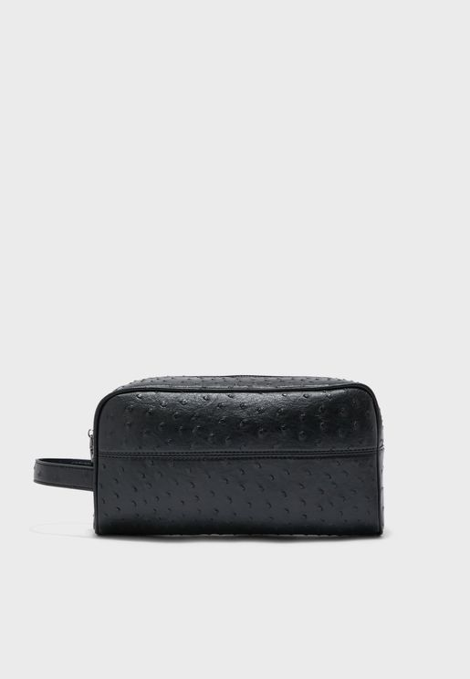Ostrich Leatherette Toiletry Bag