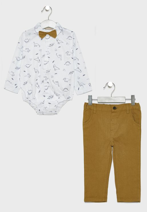Infant 3 Piece Dino Set