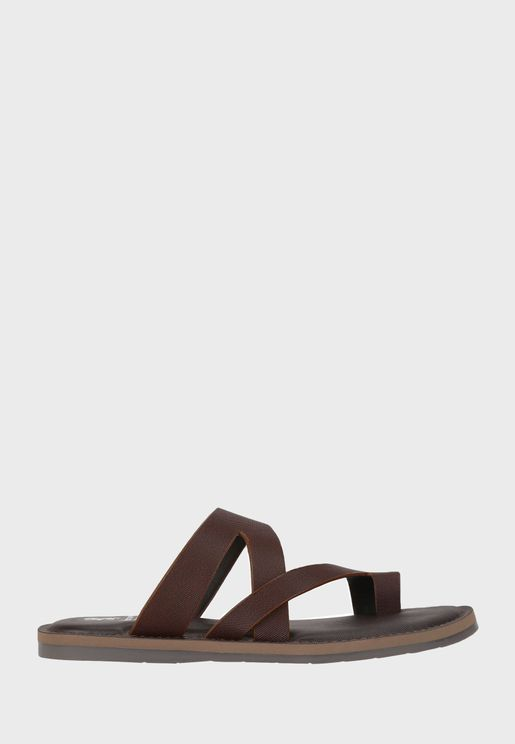 S Strap Flat Sandals