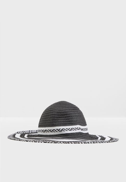 Paper Straw Braid Floppy Hat