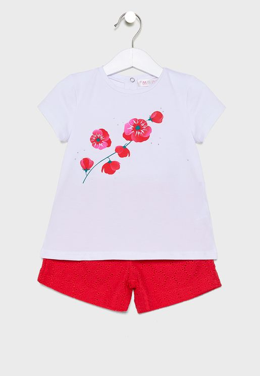 Little Printed T-Shirt + Shorts Set