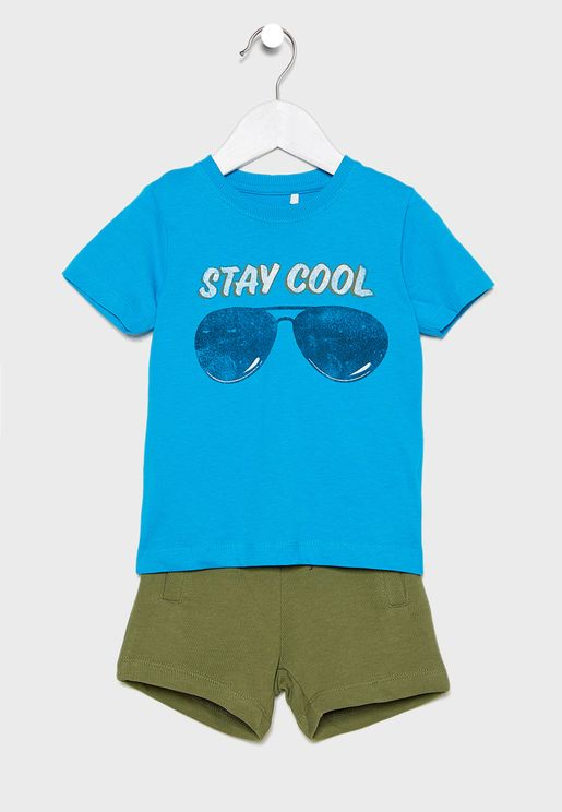 Kids Slogan Casual Set