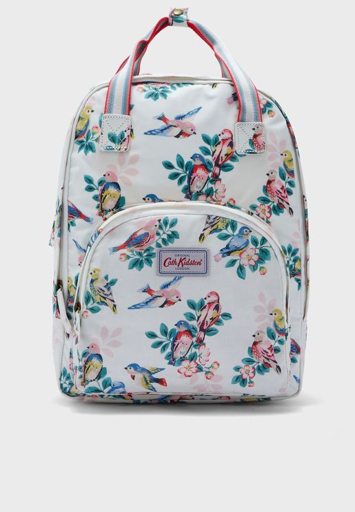 Spring Birds Multi Pocket Backpack