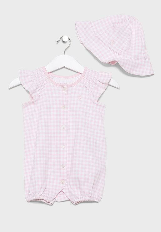 Infant Gingham Gift Set