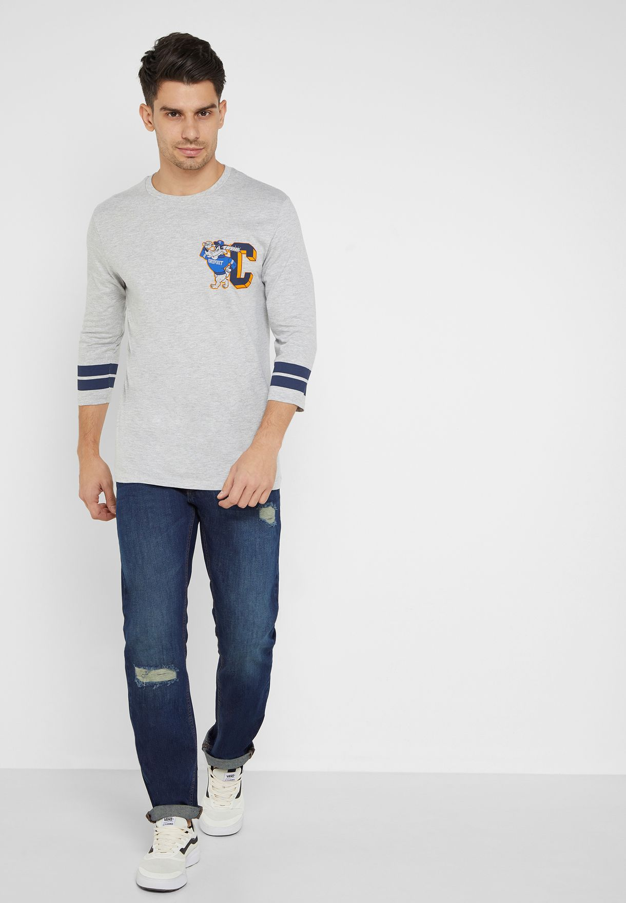 Contrast Edge 3/4 Baseball T-Shirt