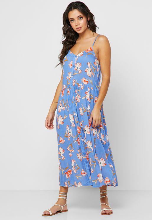 069a053729f Floral Print Pleated Dress