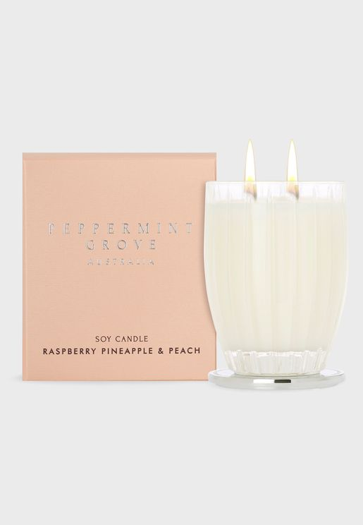 Raspberry, Pineapple & Peach Candle 350G