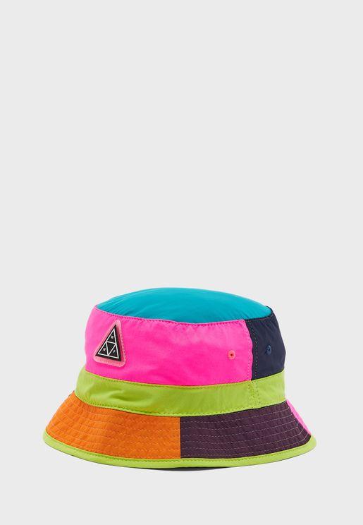 Wave Colour Block Bucket Hat