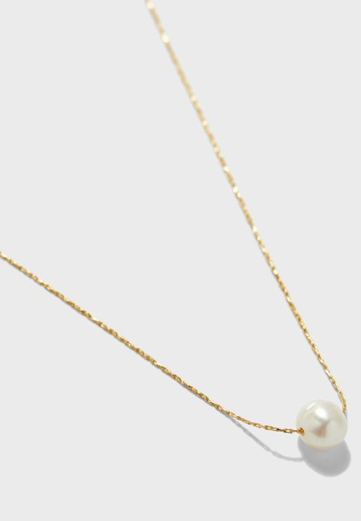 Gift Box Pearl Thread Necklace