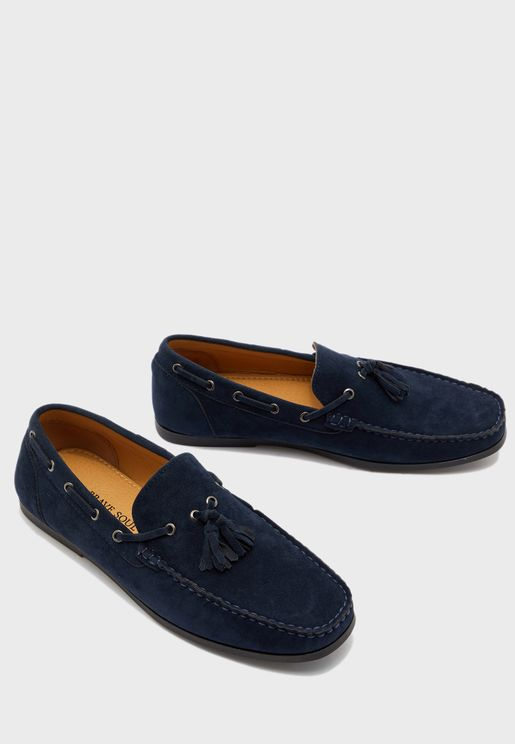 Faux Suede Tassel Detail Loafer