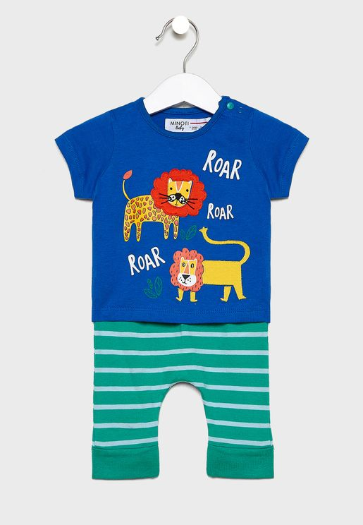 Infant Graphic T-Shirt+Pyjama Set
