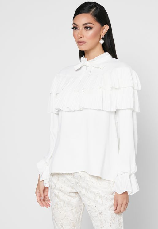 High Neck Overlay Top