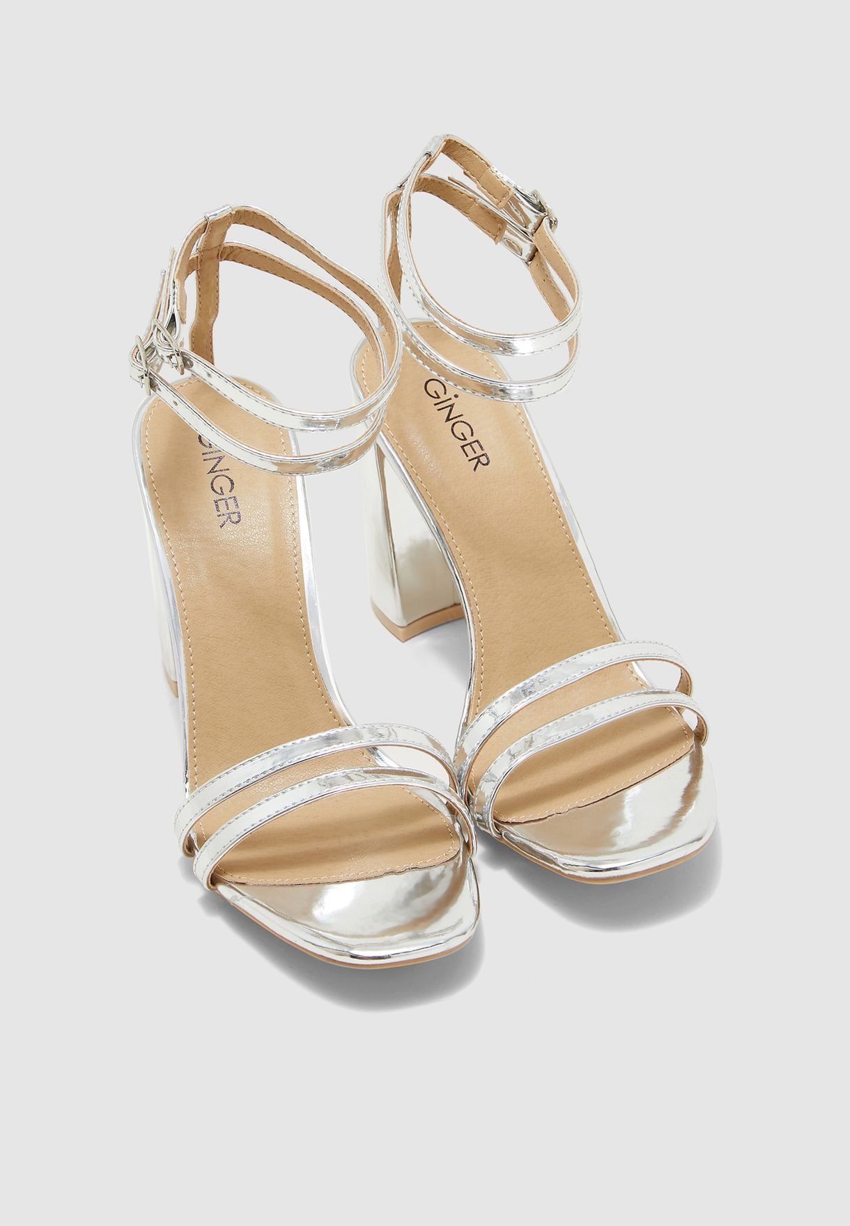 Double Strap Sandal With Ankle Fastening