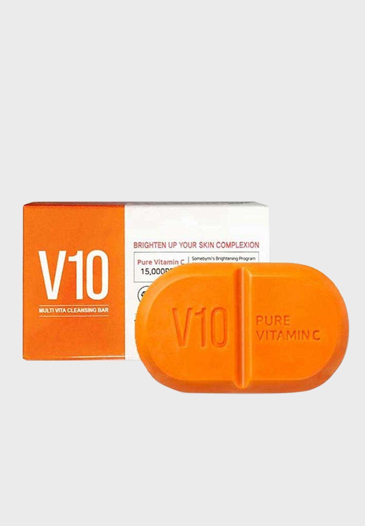 صابون بيور فيتامين C V10 لتنظيف البشرة