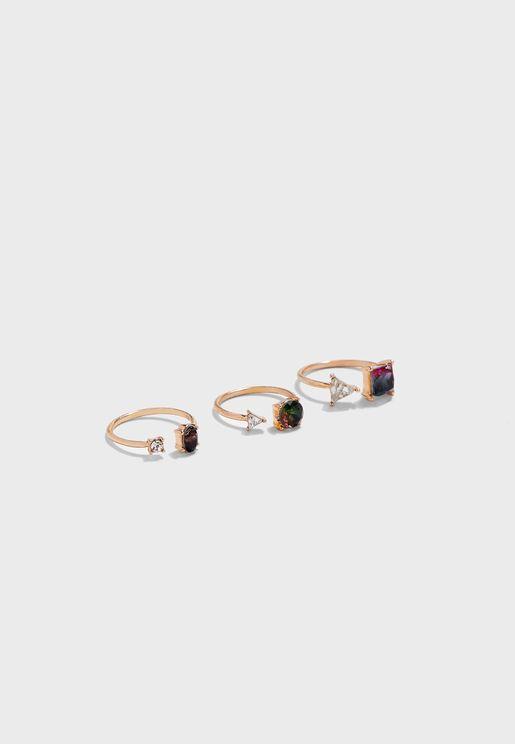 Malon 3 Pack Rings
