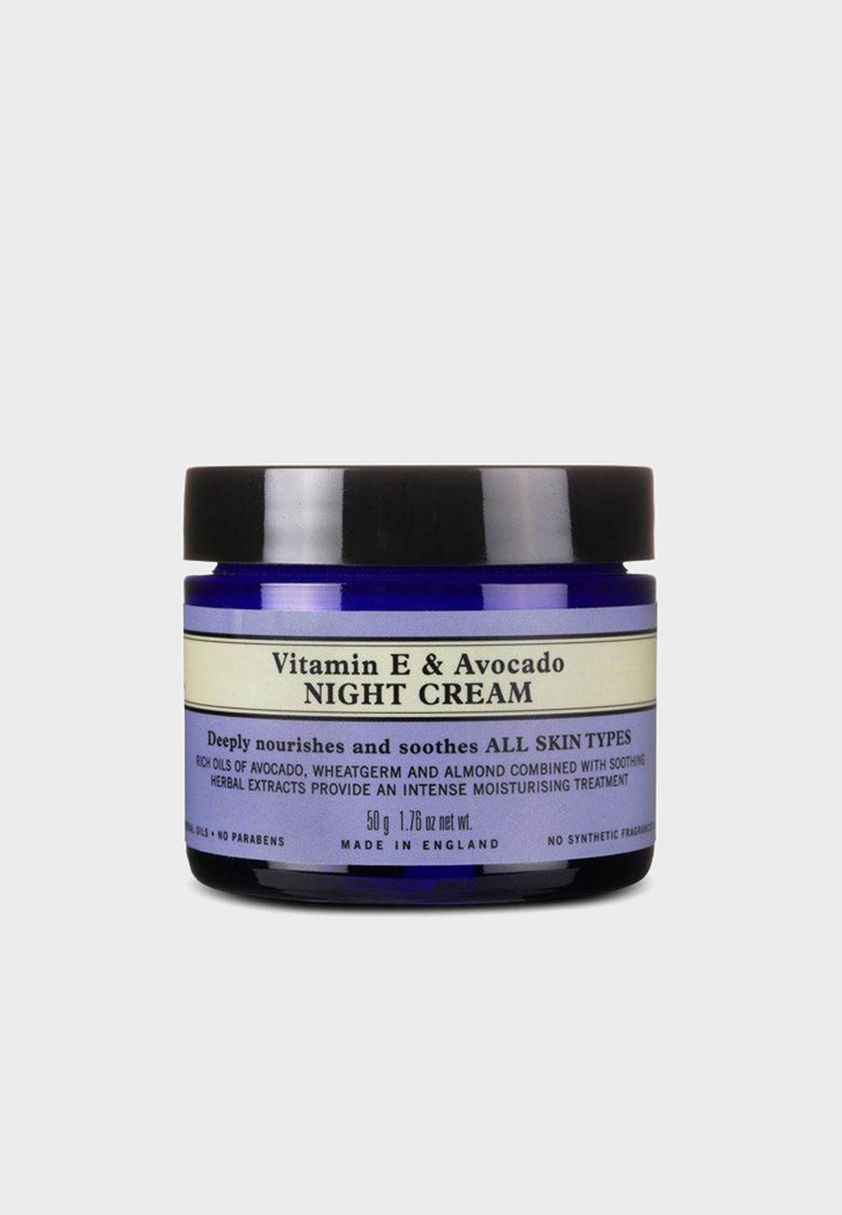 Vitamin E & Avocado Night Cream 50G