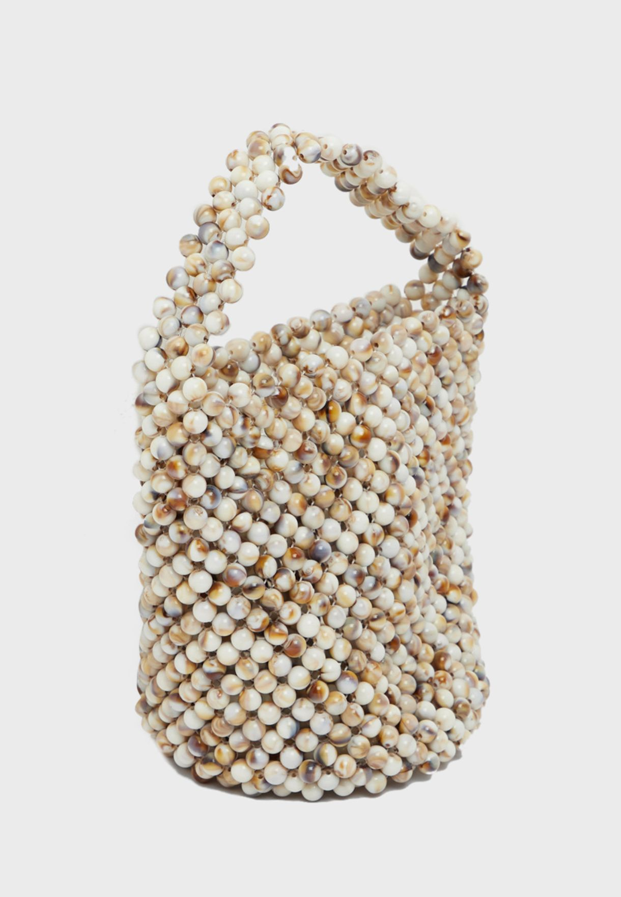 Beaded Zip Closure Shopper