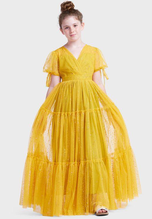 فستان تول للاطفال