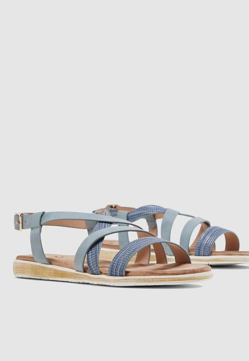 Multi Cross Strap Sandal