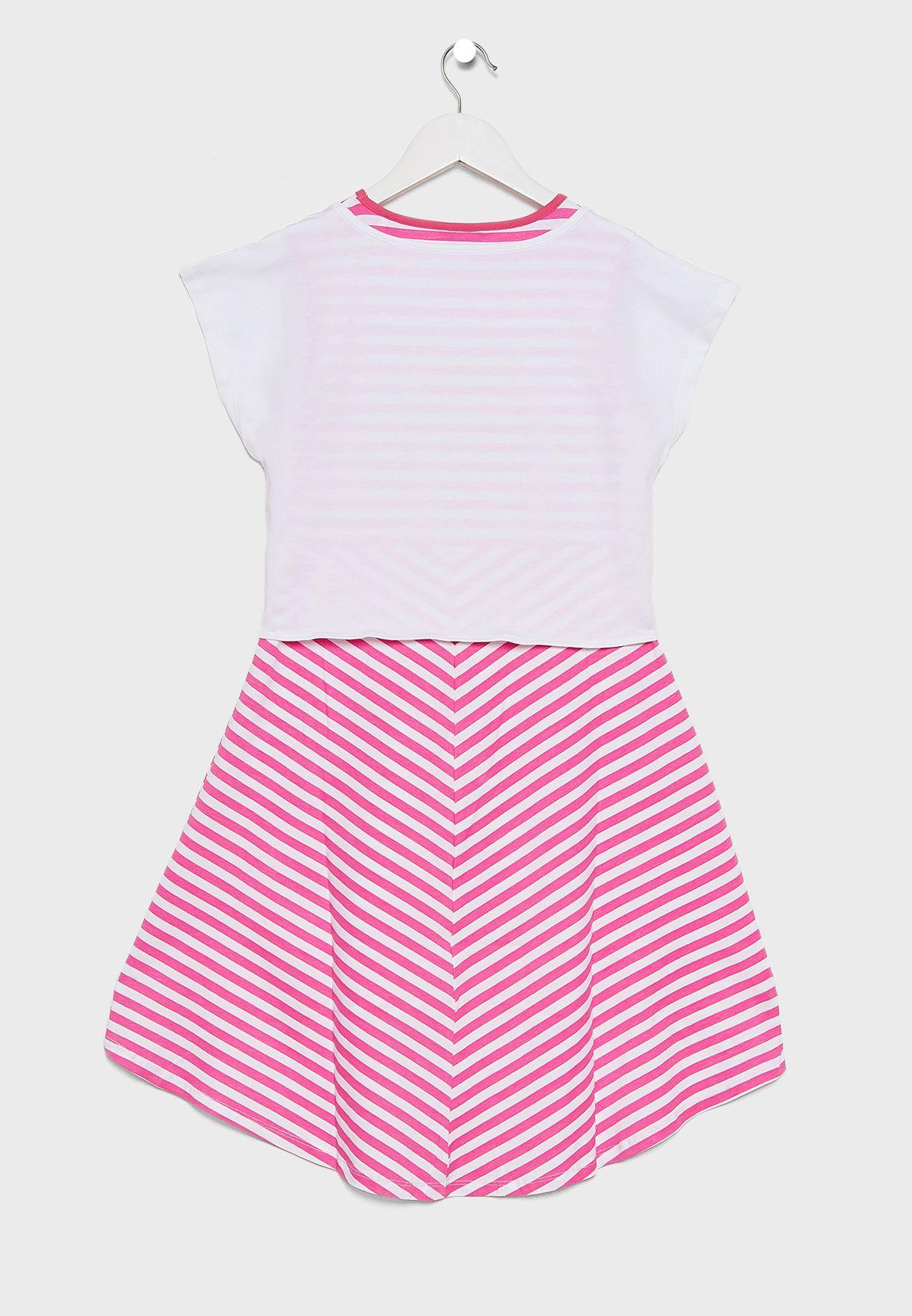 فستان اطفال بشعار الماركة