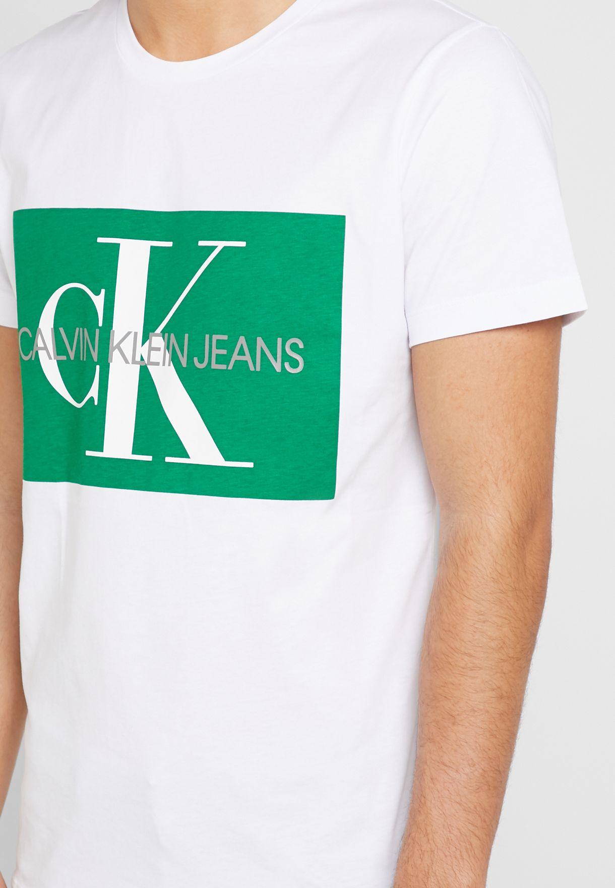Monogram Logo Box  Crew Neck T-Shirt