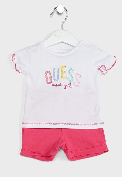 Infant Logo T-Shirt + Shorts Set