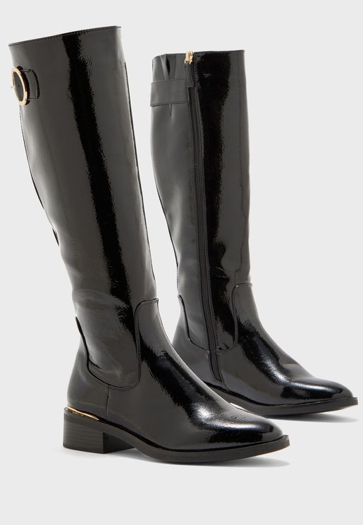 Bandy Buckle Detail Knee Boot