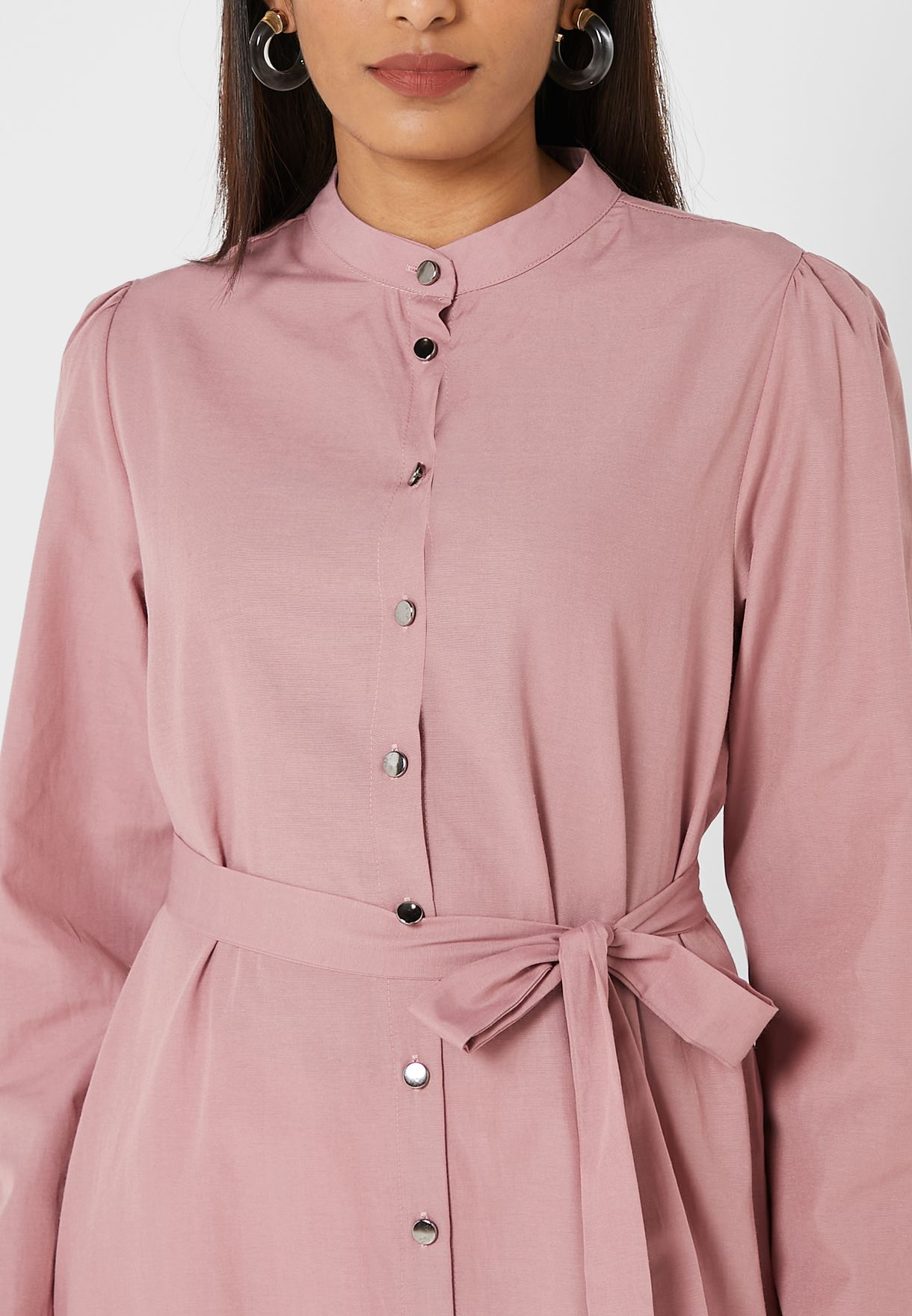 Belted Button Down Tunic