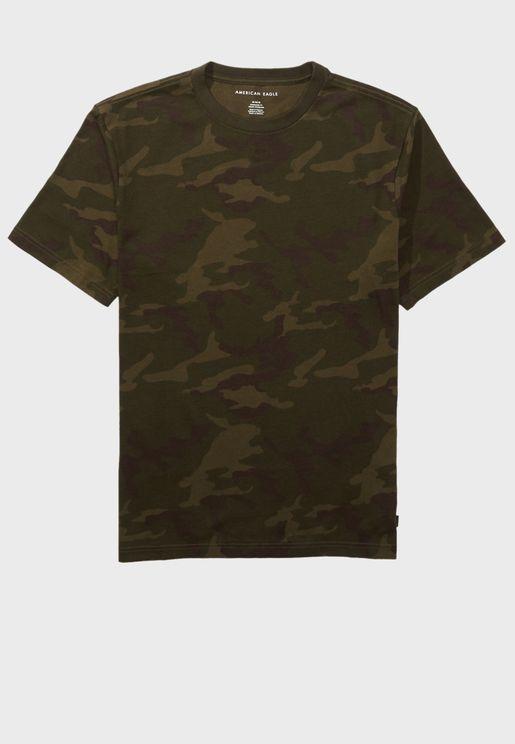 Camo Crew Neck T-Shirt