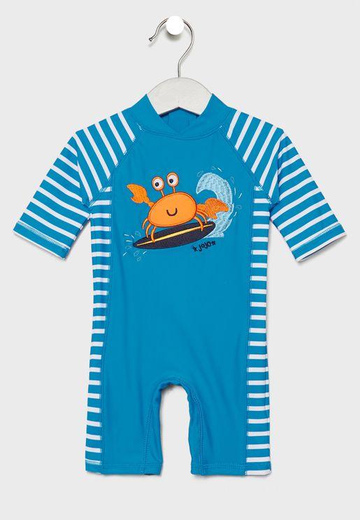 Kids Crab Graphic Swimsuit