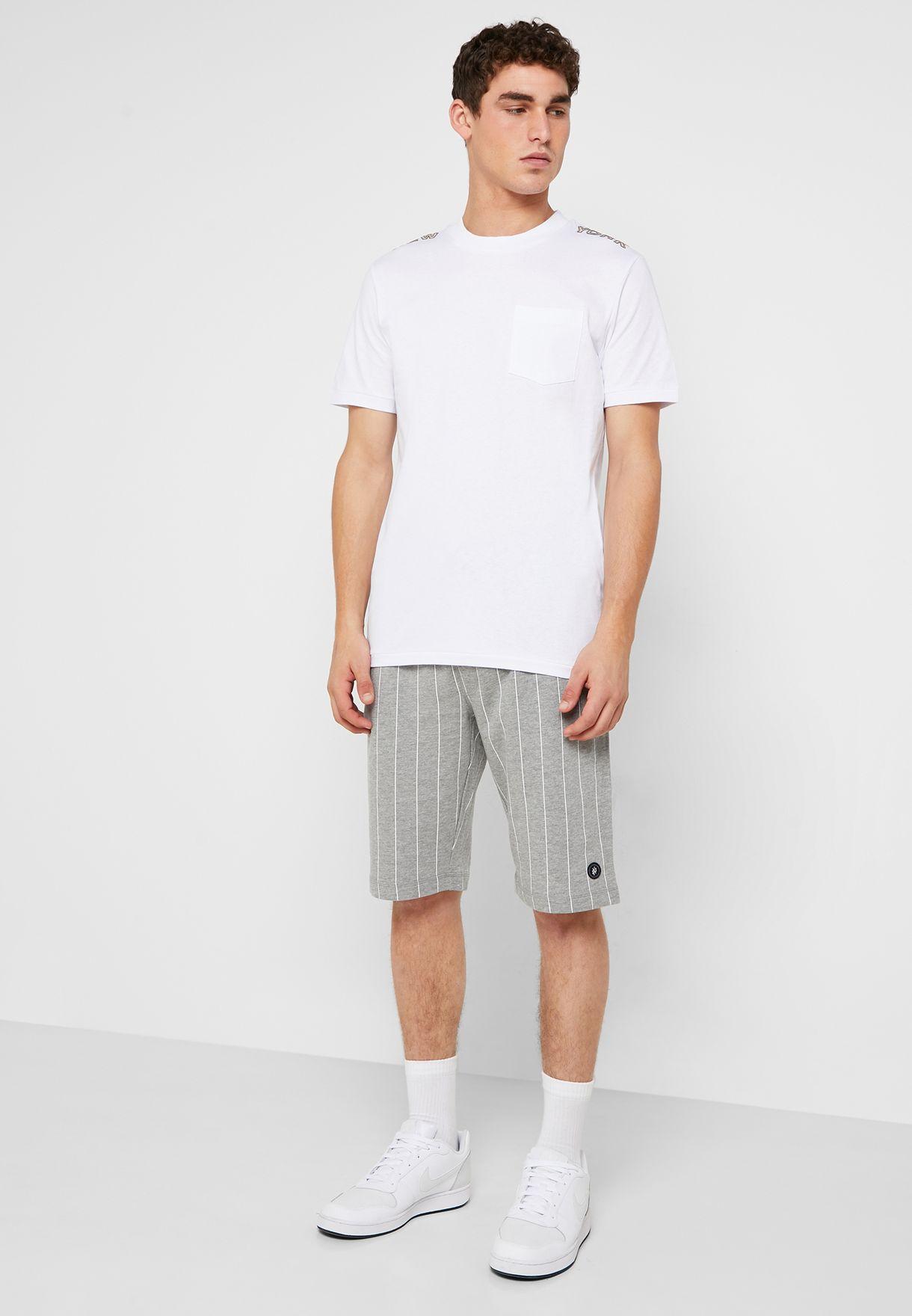 Pinstripe Sweat Shorts