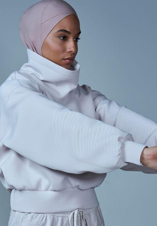 حجاب رياضي بنمط متقاطع