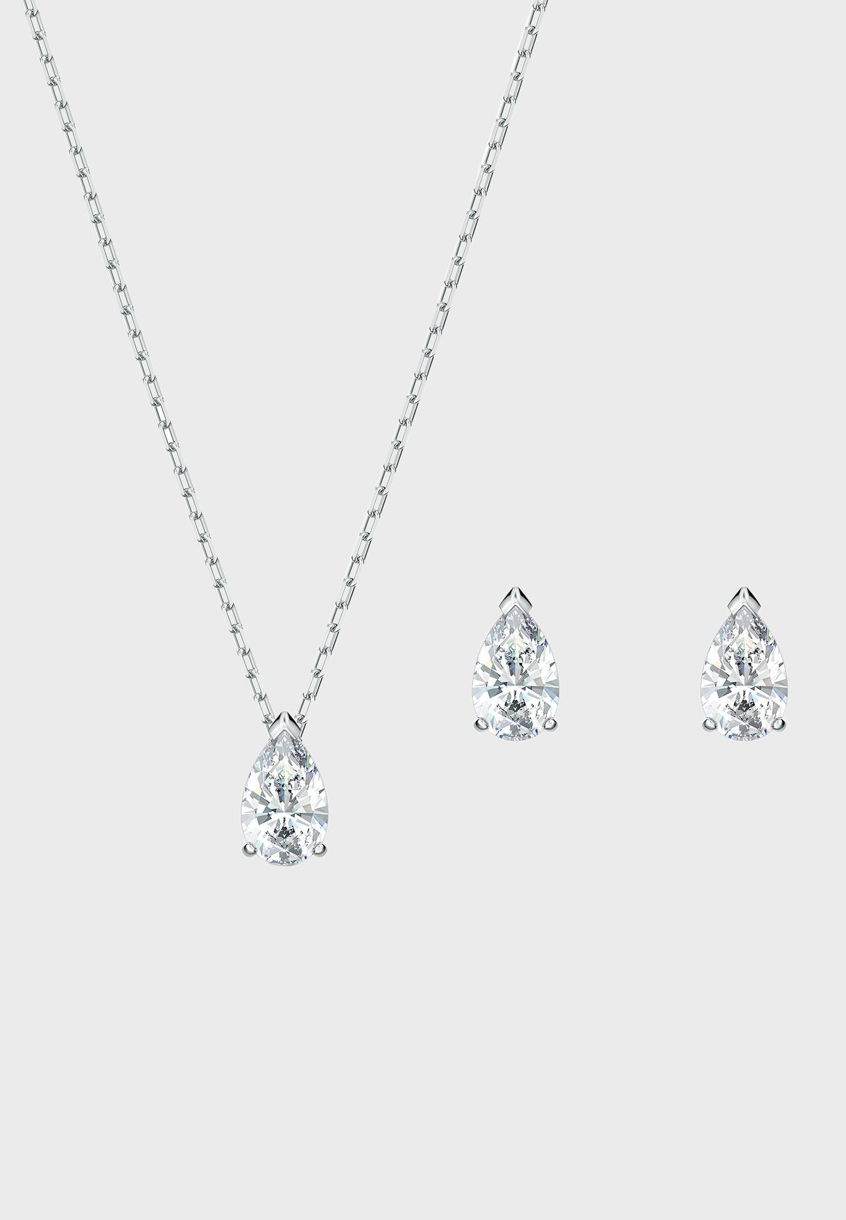 Attract Pear Necklace+Earrings Set