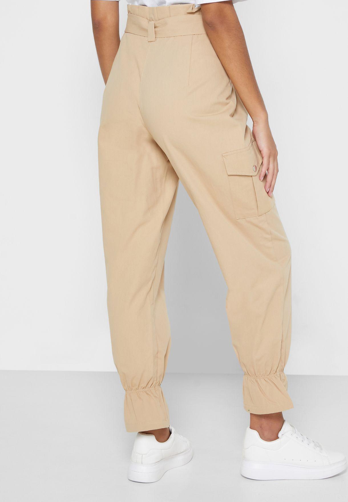 Hem Tie Detail Pants