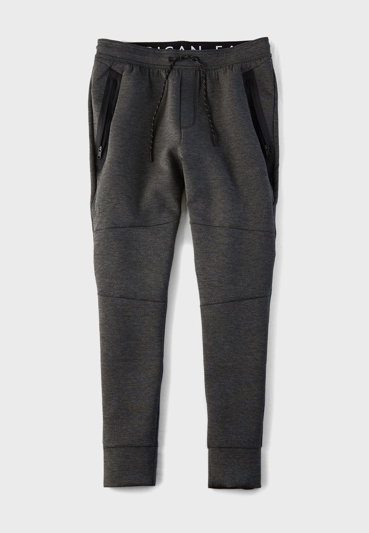 Zip Pocket Cuffed Sweatpants