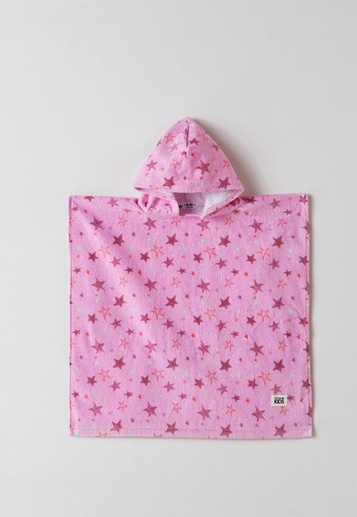 Kids Stars Hooded Towel