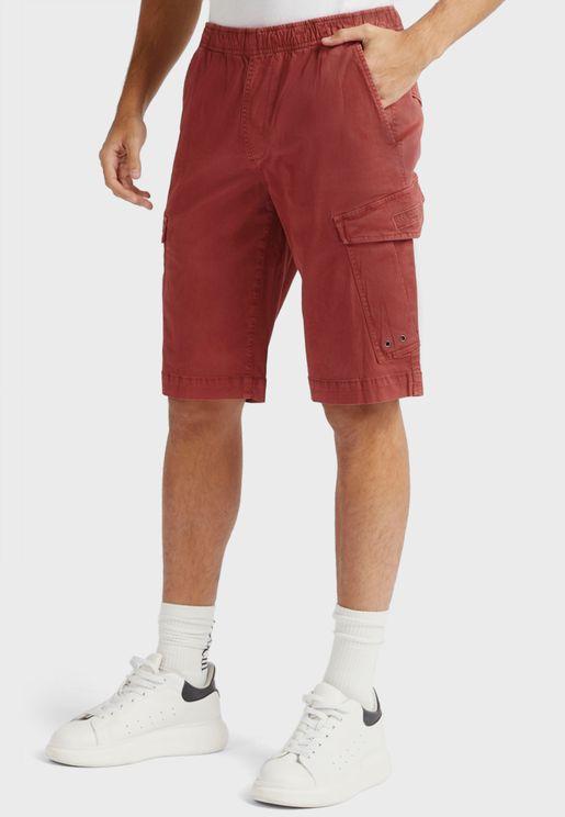 Elasticated Waist Cargo Shorts