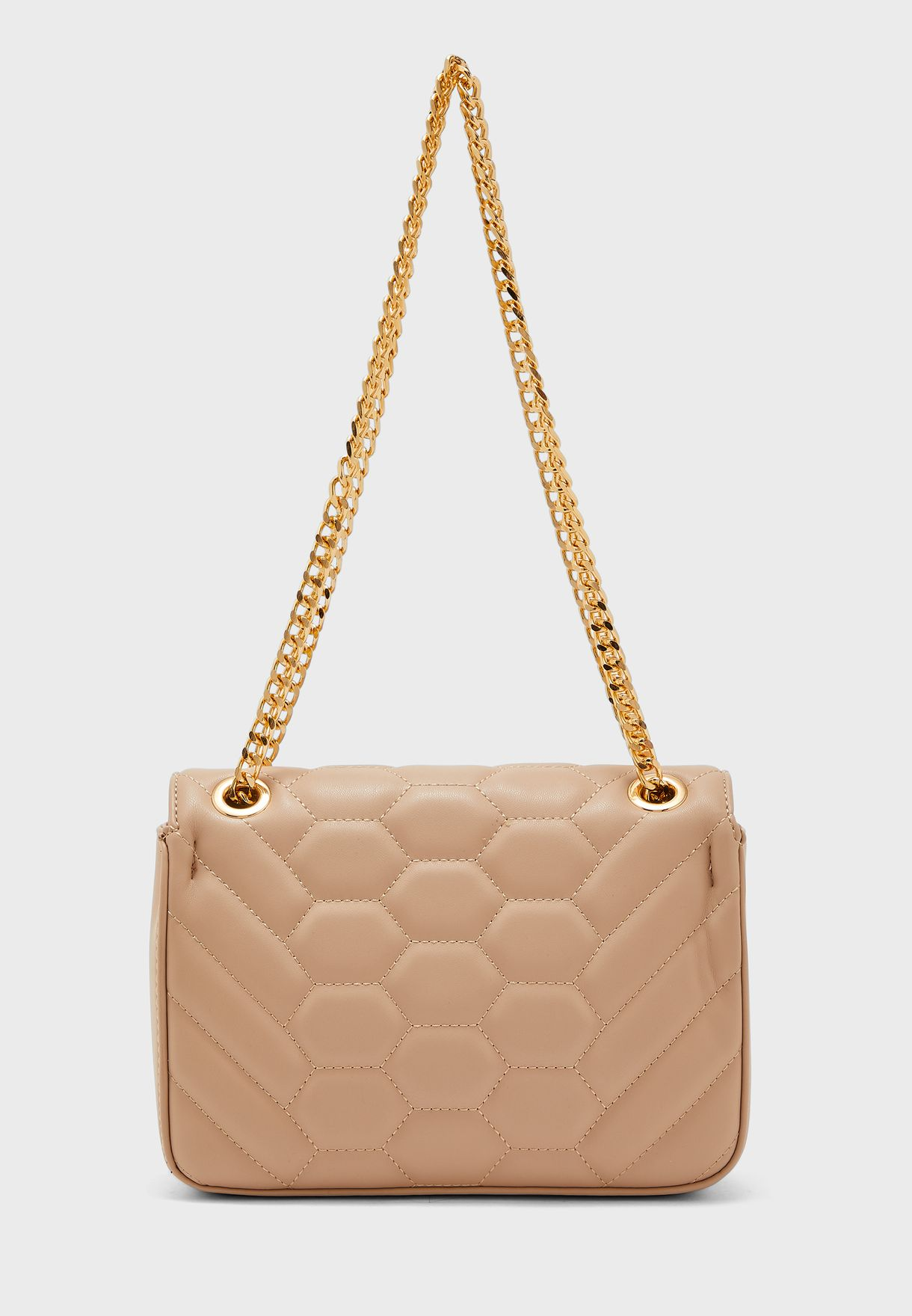 Flap Over Chain Detail Crossbody