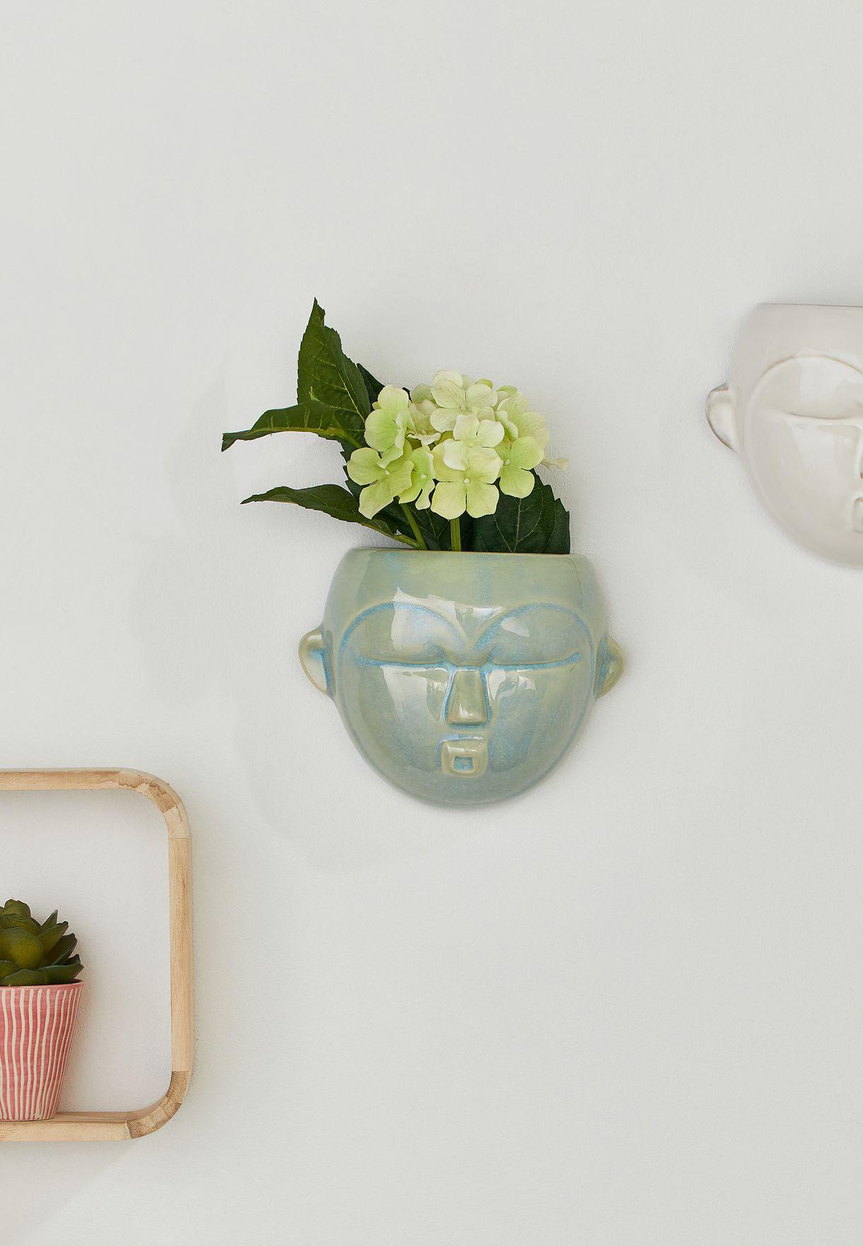 Round Mask Wall Plant Pot