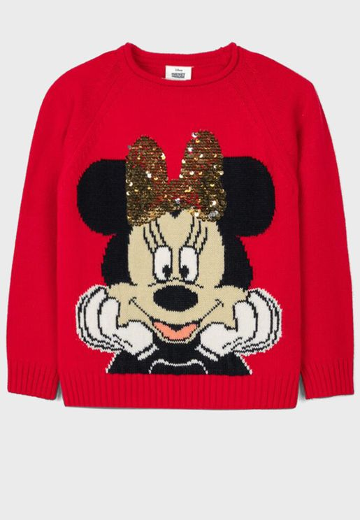 Kids Minnie Mouse Sweater