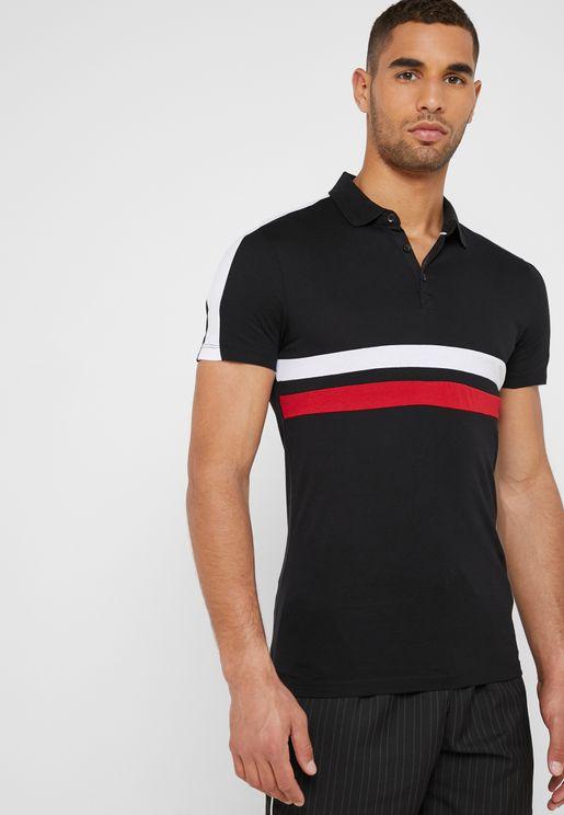 db16c297b60e8 ... to buy polo shirts online. Panel Block Polo
