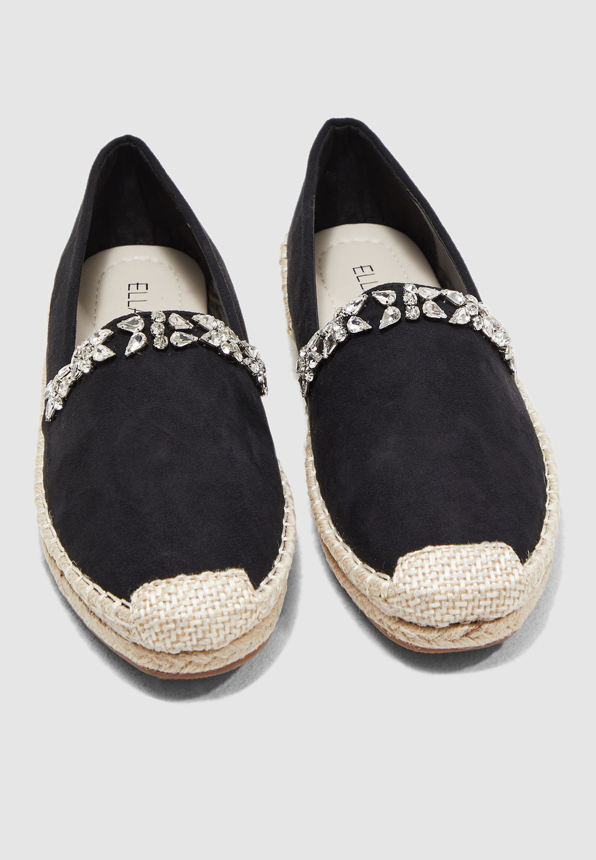 Espadrilles With Embellishment Detail