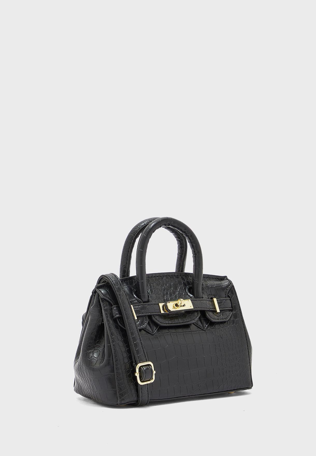Croc Top Handle Handbag