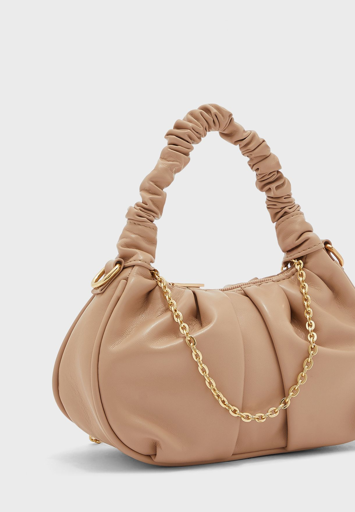 Mini Bag with Ruched Handle